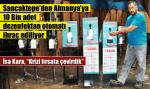 Sancaktepe'den Almanya'ya 10 Bin adet dezenfektan otomatı ihraç ediliyor